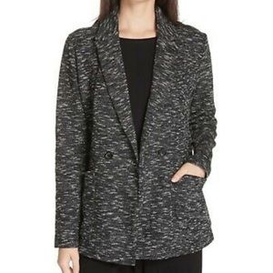 Eileen Fisher Marled Knit Double Breasted Blazer